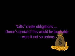Gifts Create Obligations
